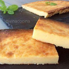 Mezcla de tarta y bizcocho de queso, consistente y aromatizado