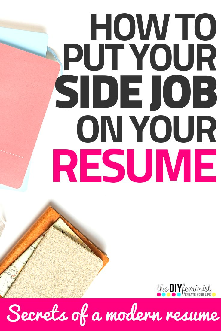 How to List your Side Hustles on your Resume