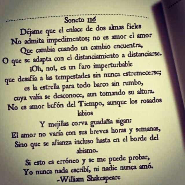 Soneto 116 William Shakespeare