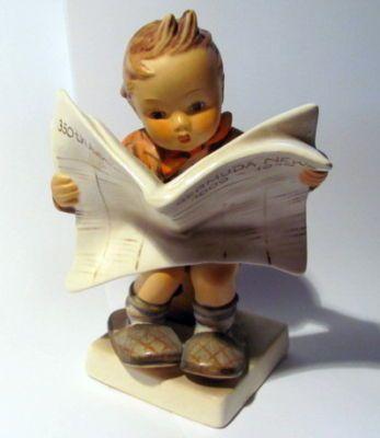 """Hummel figurine - """"Latest News"""" HUM 184"""