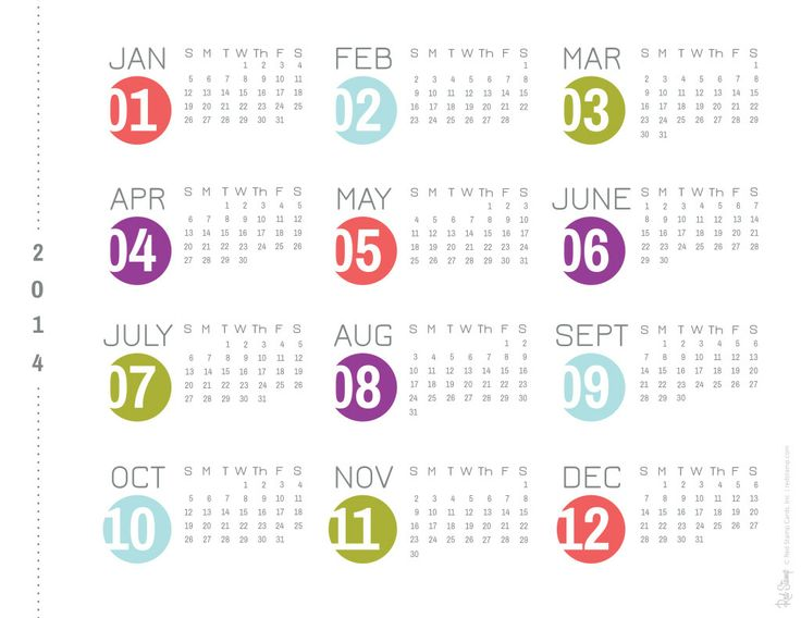 22 Best Printable Year At A Glance Images On Pinterest | Life