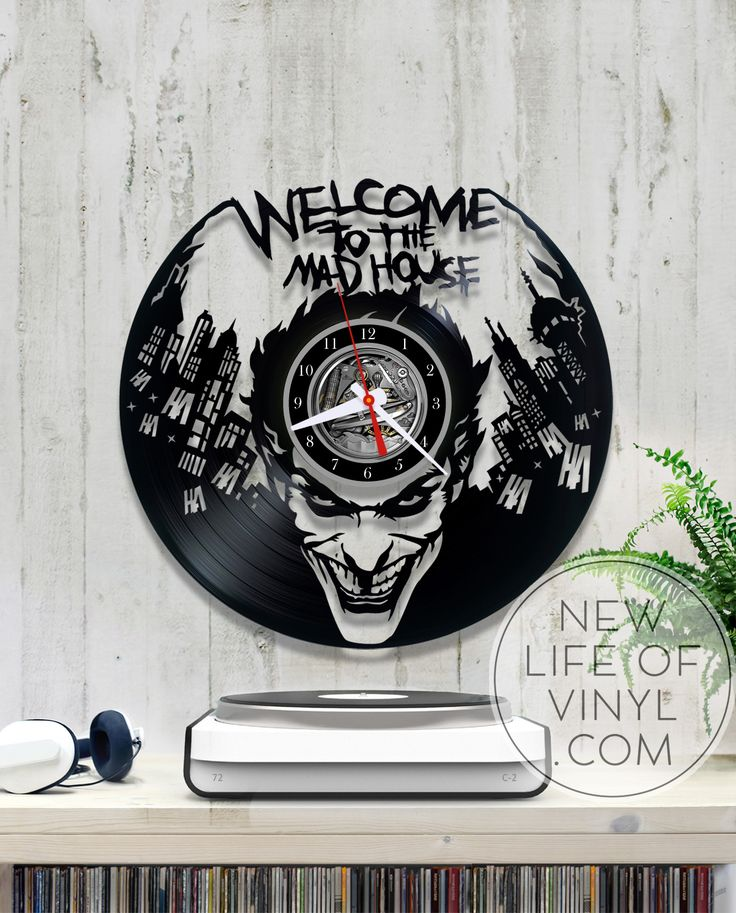 Vinyl clock with Joker #DCcomics