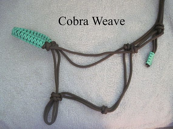 Custom Rope Halters Made From Premium 1 4 Double Braided Yacht Rope You Choose The Color Size And Stiffness Cobra Weave Rope Halter Horse Diy