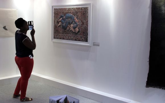 Sorry , photography not allowed. Art is much more than something pretty on your wall. Art can be a commentary of life , politics, human emotion or art itself. So, art is also an investment.