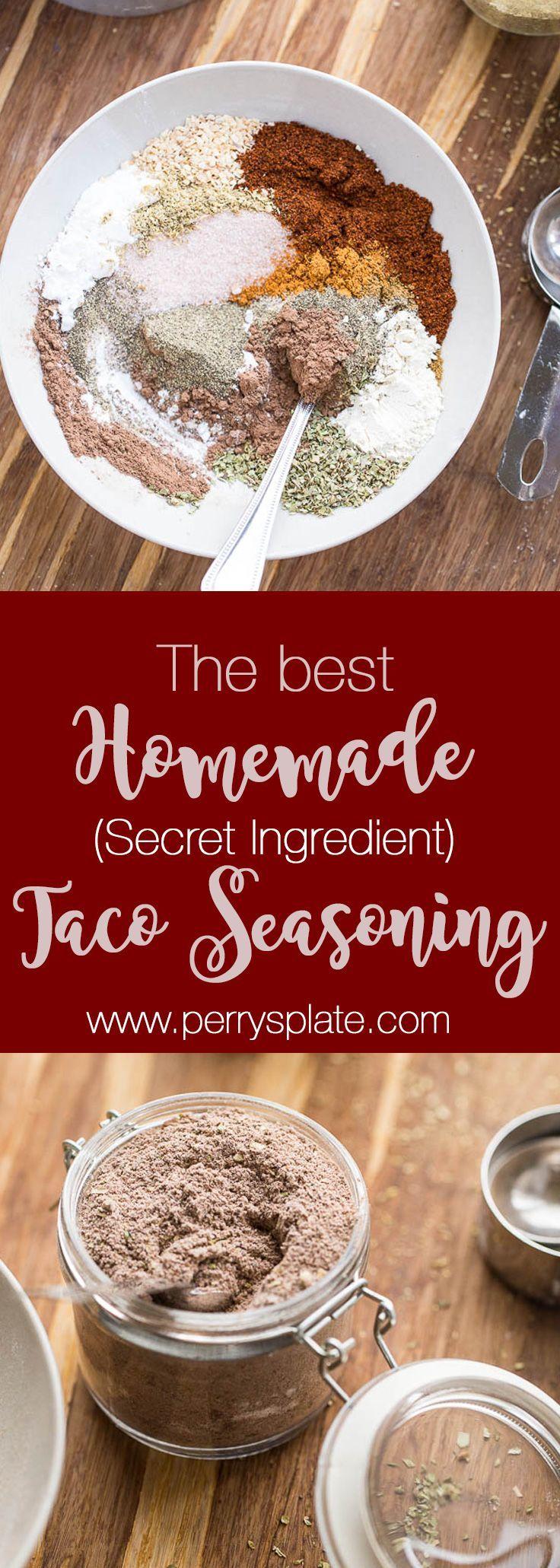 Homemade Taco Seasoning so good you'll give it away as a gift! | paleo recipes | whole30 recipes | taco recipes | perrysplate.com