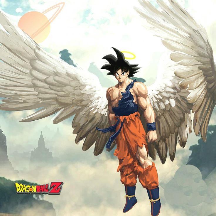 "Son Gokû ""Angel Saiyan"" ~ Son Gokû Kakarotto {Guerrier Saiyan} ~ {✄ Collage Logos ""Dragon Ball Z"" part : ✎_LølY_✍} ~ ㊗_Dragon_Ball_Z_㊗"
