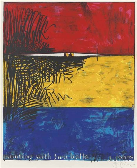 Jasper Johns - Painting with two Balls, 1971,...