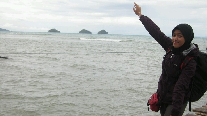 Here, i'm at Centi Jetty Lampung #Indonesia. Ready for my trip with carril.