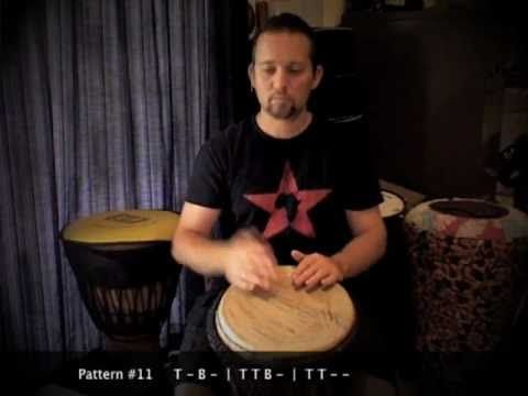 Djembé patterns for beginners by Matt Hains from Drummer Boy ZA - YouTube Patterns 7 - 12