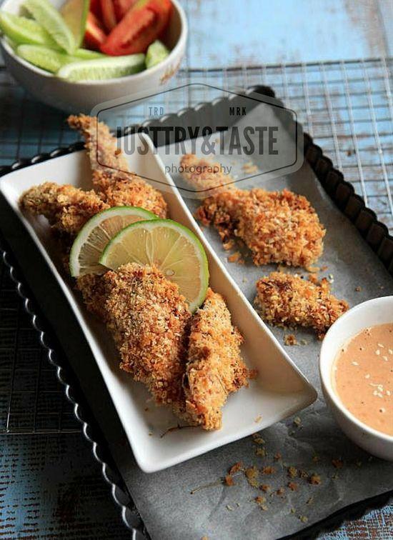 Chicken Fingers dengan Saus Madu Wijen