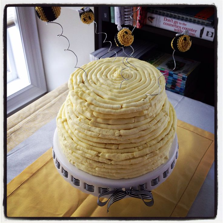 """Mummy to Bee""baby shower cake!"