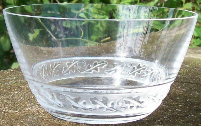 "100.00 Lalique ""Saint Hubert"" Crystal Finger Bowl"