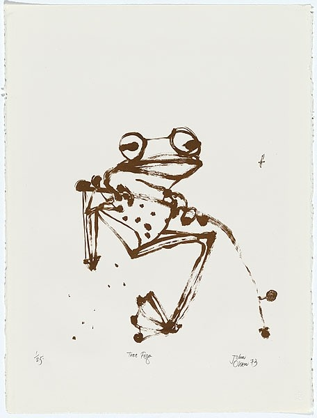 No unescesary line work. Frog by Olsen. Perfect.