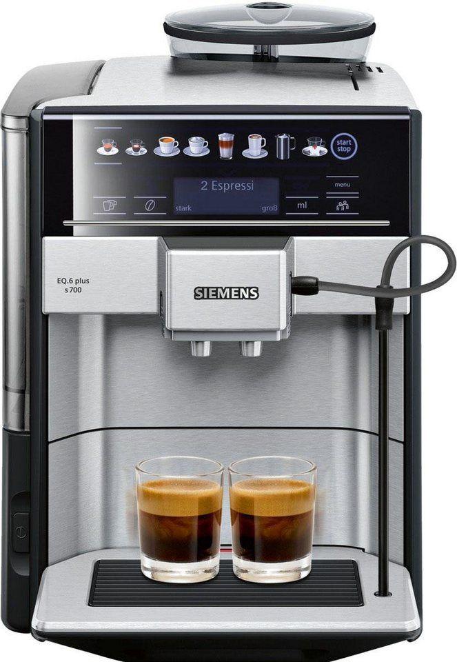 Wunderbar SIEMENS Kaffeevollautomat EQ.6 Plus S700 TE657503DE, 1,7l Tank,  Scheibenmahlwerk,