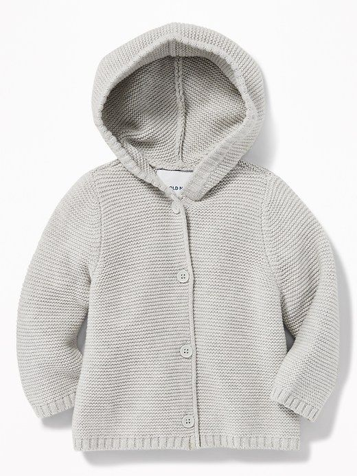 50d1de7f029e Hooded Textured-Knit Cardigan for Baby