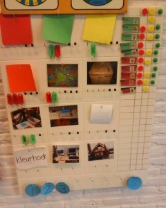 Het gebruik van een planbord in de kleutergroep.