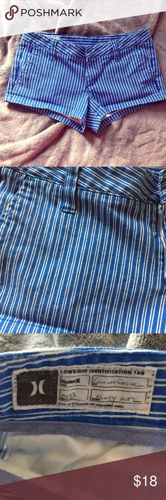 Hurley classic fit lowrider short blue white skate