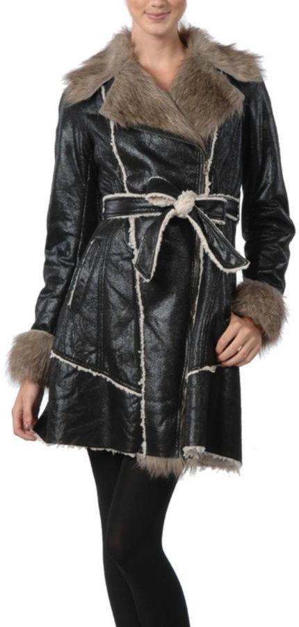 Ryu Black Shearling Coat