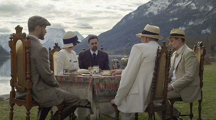 "From the Czech feature film ""The Big Demolition"": The Czech sociologist and philosopher Thomas Garrigue Masaryk in a conspirative meeting with two British journalists on a shore of a Swiss lake in October 1915.  http://taylor-film.com/big-demolition/  #The Big Demolition #Thomas Garrigue Masaryk #conspiracy #movies #czech history"