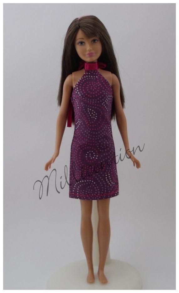 Purple Skipper doll sheathdress