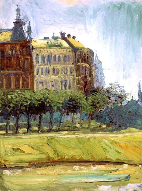 Richard Gerstl - By The Danube Canal, 1908