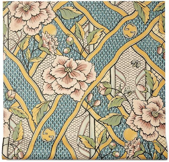 Floral Print Wallpaper, Fabric Wallpaper, Wall Wallpaper, Antique Wallpaper, Galaxy Wallpaper, Floral Motif, Floral Prints, Palm Springs Houses, Gucci Floral