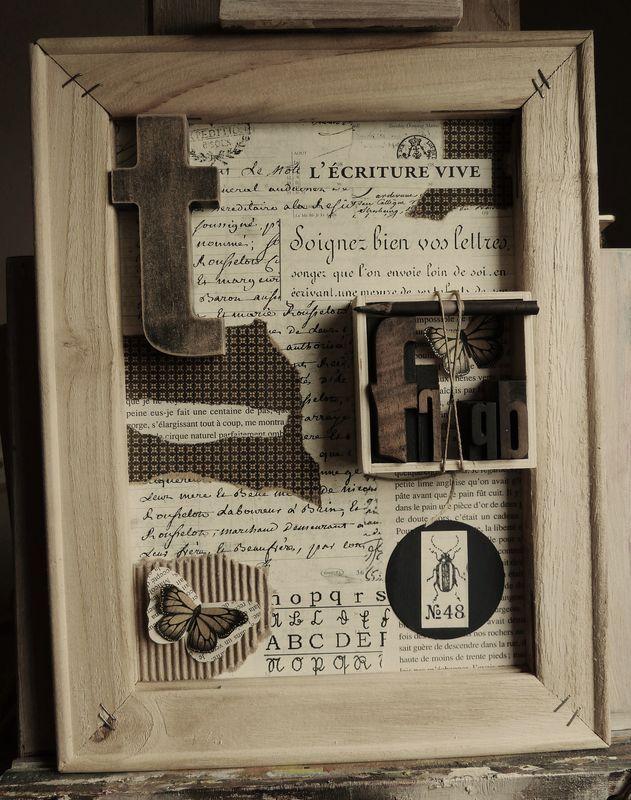 """Cadre """"L'Ecriture Vive"""" - Photo de Peinture et cadres - L'Atelier de Drine"""