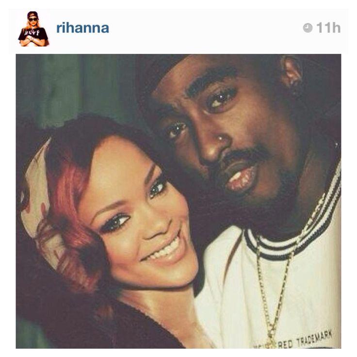 Rihanna's photoshop pic w/Tupac Shakur. So cute | Rihanna ...