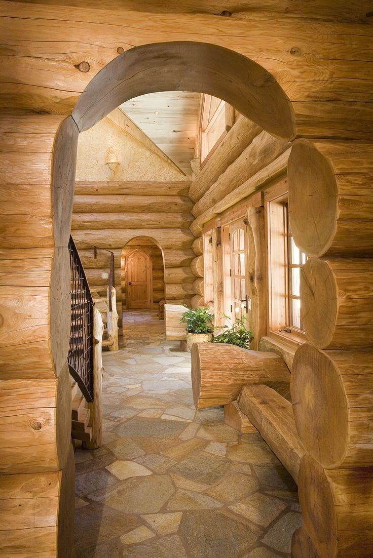 A handcrafted energy efficient log home in california for Energy efficient cabin