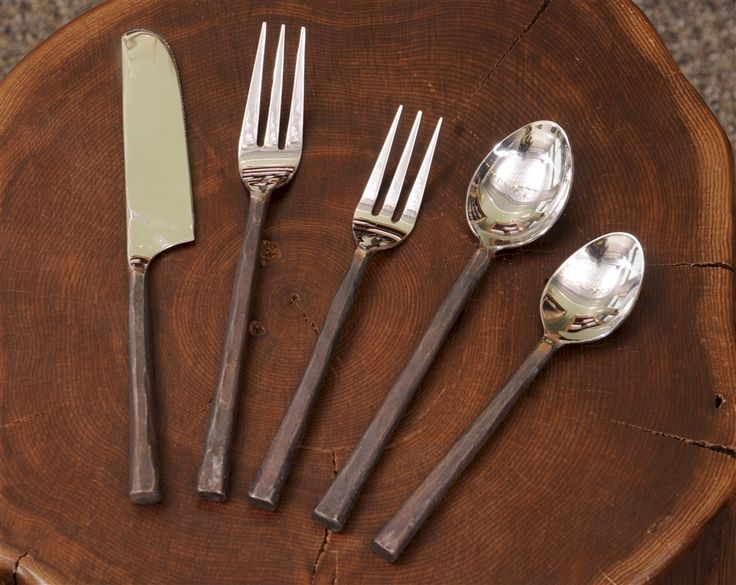 Rustic Forged Copper Flatware