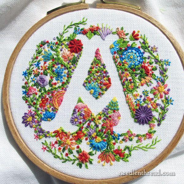 Anulado Monograma floral A