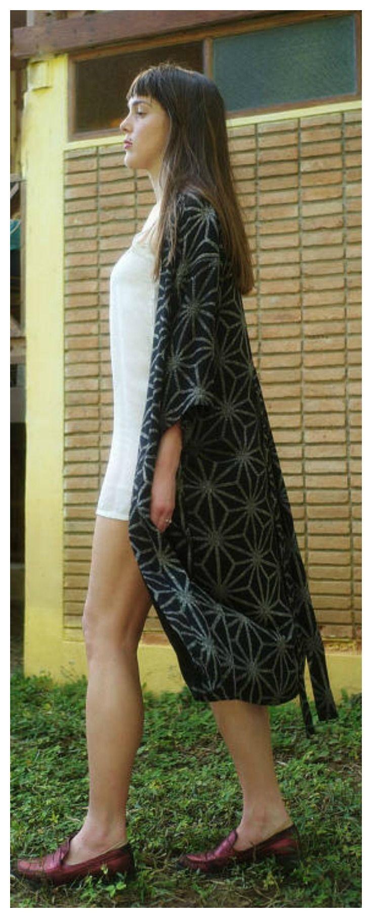 Long Kimono robe on Etsy for only 48$ !!! Enjoy the offer         kimono robe long, kimono robe cotton, kimono robe, bohemian kimono robe, kimono cardigan, cardigan kimono, kimono cardigan boho, kimono
