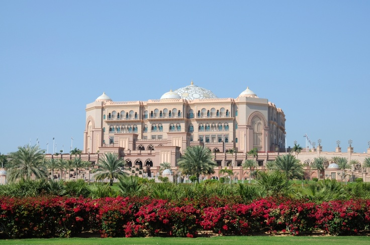 The luxury hotel Emirates Palace in Abu Dhabi