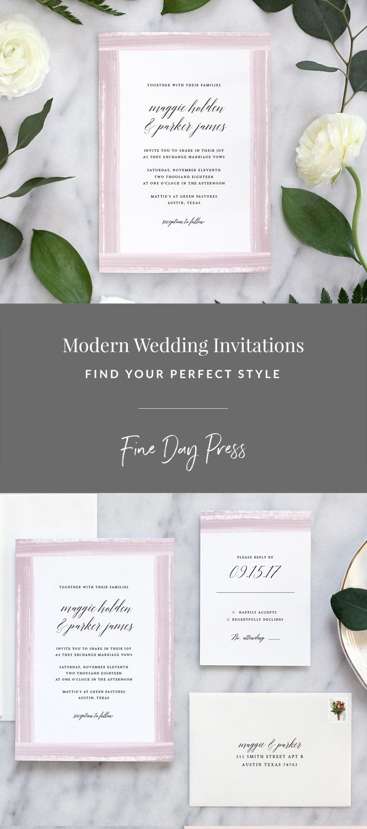 modern wedding invitation samples%0A Click to order your free invitation sample kit  Looking for wedding  invitations  Our Watercolor