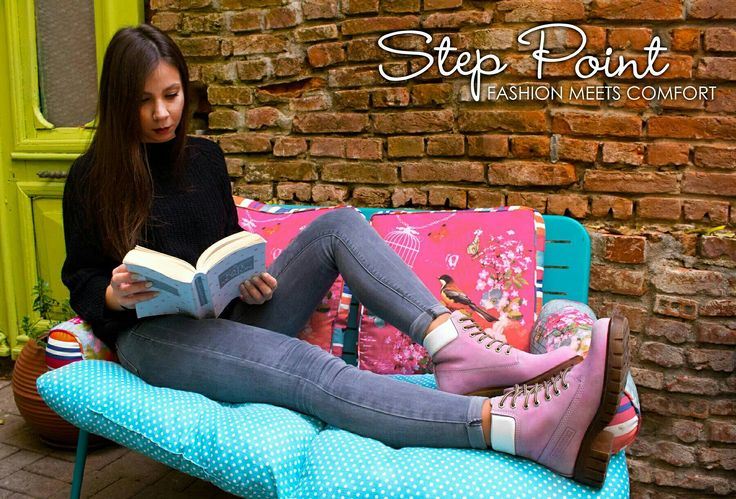 Τόσο άνετα που ξεχνάς να τα βγάλεις... Μποτάκι σε υπέροχη ροζ απόχρωση μόνο στα #steppoint  Δείτε τα εδώ -> http://ow.ly/XKvp305OaXQ  #fab #boots #style #pink #autumn #winter #shoes