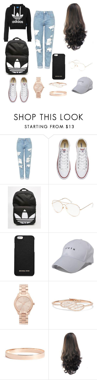 """Untitled #1"" by nanii29 ❤ liked on Polyvore featuring adidas Originals, Topshop, Converse, adidas, MICHAEL Michael Kors, Michael Kors, Anita Ko and Lana Jewelry"