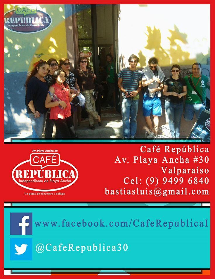 Café República, de la república independiente del cerro Playa Ancha de Valparaíso. Toda la historia de este hermoso y único barrio disfrutando un rico café.
