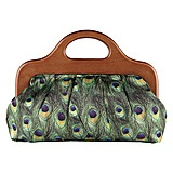 Peacock handle clutch... maybe with blue shirt dress
