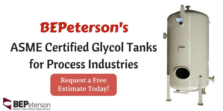 BEPeterson manufactures industrial grade tanks to store Glycol. Contact us to place an order, or to know more about benefits of our Glycol Tanks.