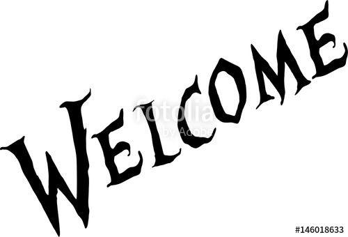 welcome text sign illustration creato da Morgan