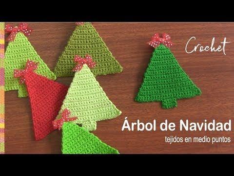Pino Navidad en tejido crochet tutorial paso a paso. - YouTube