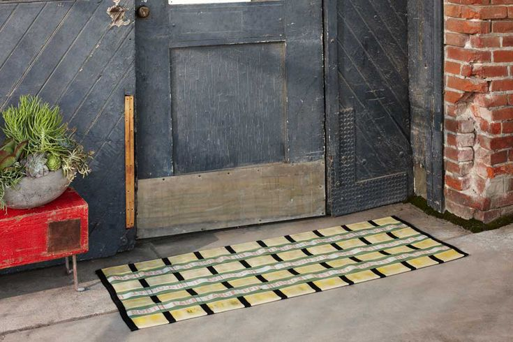 Furniture & Accessories from Salvaged Fire Hoses in style fashion home furnishings this is a doormat