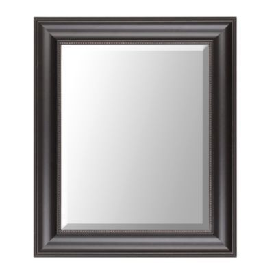 Entryway Black Classic Framed Mirror, 22x26 | Kirkland's