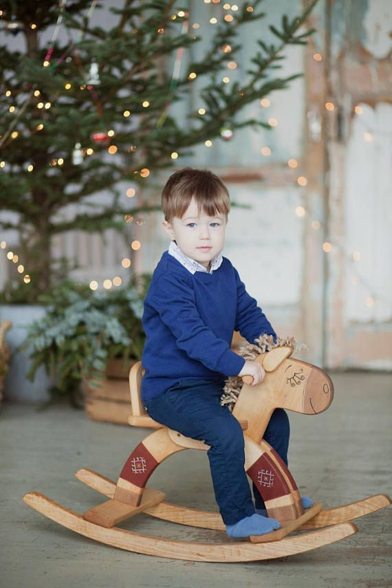 This Handmade Wooden Rocking Horse is created to be a safe and natural friend to a child. It is quality crafted and sanded satin smooth. All materials we use are 100% natural, biodegradable and safe for children. Rocking Horses legs are decorated with ornaments which, according to an ancient Baltic religion, provide protection and positive energy. Materials used: sustainably harvested birch wood, painted with natural Milk Paint and finished with raw linseed oil. Safe for all ages 1 and up…