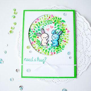 Homy Workshop by Ksenia Phedra Li: Bunnies in Love card / Или зайки и лето