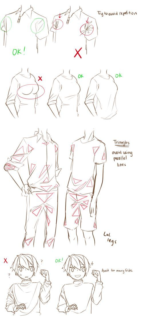 Clothes folding~ ✤ || CHARACTER DESIGN REFERENCES | キャラクターデザイン | • F: