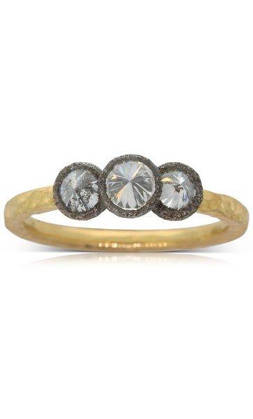Todd Pownell 18ct yellow gold .80ct diamond ring