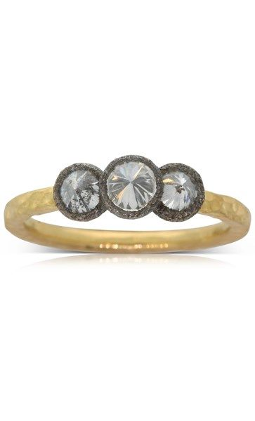 Todd Pownell 18ct yellow gold .80ct diamond ring