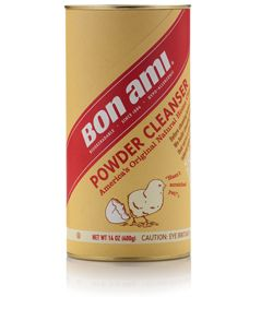 Bon Ami Powder Cleanser. Five all-natural ingredients. Best stuff ever.Amy Powder, Bathtubs, Bathroom Schemes, Powder Cleanser, Bon Amy, Cleaning Sinks, Baking, Cleaning Products, Stainless Steel