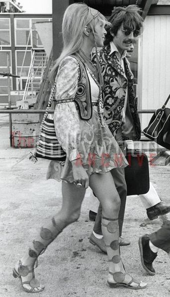George and Patti Harrison - check out her gladiator sandals - 1968  Something - Beatles http://youtu.be/IrW7dlDHH28 Layla - Eric Clapton http://youtu.be/0WUdlaLWSVM